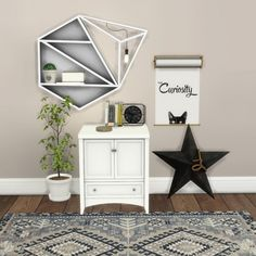 Leo Sims - Lighted Shelf and Cabinet for The Sims 4
