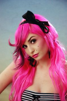 When I had pink bangs, I eventually wanted to morph into totally pinkness. My hair would have been fried though..