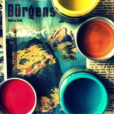 #fired earth #red #orange #aqua #paints  trend-daily.blogspot.com