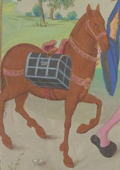 Medieval Horse, Medieval Life, Horse Harness, Moving And Storage, Pilgrims, Bnf, Casket, 15th Century, Scooby Doo