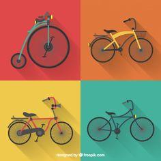 Colección de bicicletas Vintage
