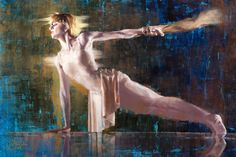 The Statue by Christopher Clark Oil Paint On Wood, Painting On Wood, Denver Skyline, Contemporary Ballet, Clark Art, Cradle Of Civilization, Howls Moving Castle, Kirito, Oil On Canvas