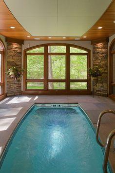ceiling design indoor pool interior design interiors lighting michigan pool swimming windows walls spa stone water