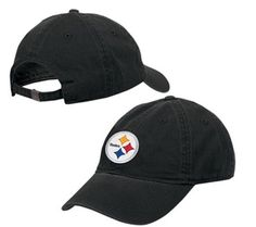 Sports Mem, Cards & Fan Shop Fan Apparel & Souvenirs Pittsburgh Steelers Black Adjustable Structured Hat Cap Nfl Osfa Fashionable And Attractive Packages