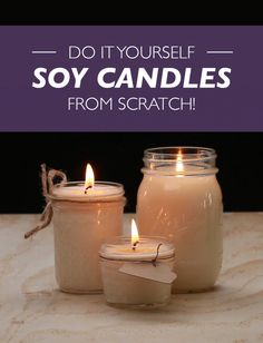 These Soy Candles Are The Perfect Chilly-Weather DIY - Candle Recipes Homemade Candles, Diy Candles, Scented Candles, Making Candles, Yankee Candles, Candle Containers, Candle Jars, Candle Craft, Candle Maker