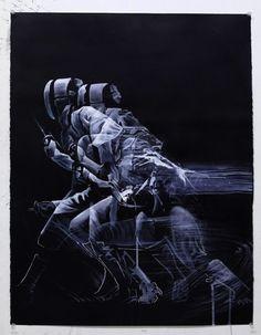 Aaron Li-Hill peinture escrime