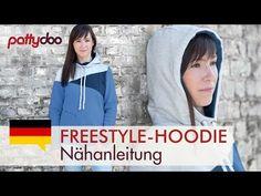 Freestyle Hoodie - Kapuzenpullover mit Teilung/Patchwork aus Sweat nähen - YouTube