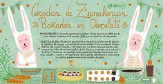 Cositas Ricas Ilustradas por Pati Aguilera: Cocadas de Zanahorias bañadas en Chocolate
