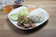 Rice Dishes - BBQ Pork Rice (Steamed)