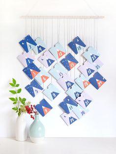 Printable mountain advent calendar