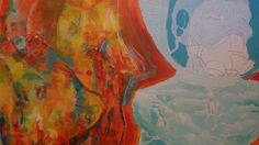 working on another tyrone washington painting about 4ftx4ft. just a little close up of progress, just starting to work i...