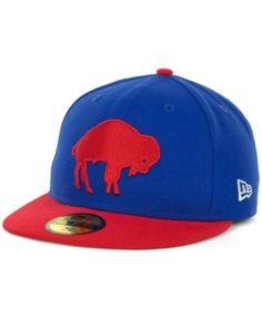 New Era Buffalo Bills Historic Basic 59FIFTY Hat - Blue 7 1/8