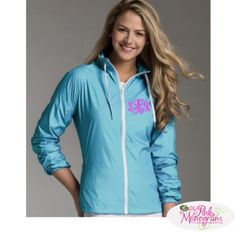 Monogrammed Wind and Water Resistant Lightweight Jacket  Apparel & Accessories > Clothing > Outerwear > Coats & Jackets