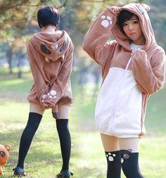 Kawaii fashion and styles Japanese kawaii anime hooded fleece coat Harajuku Fashion, Japan Fashion, Kawaii Fashion, Lolita Fashion, Cute Fashion, Fashion Outfits, Womens Fashion, Harajuku Girls, Grunge Outfits