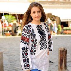 Amazon.com: Ukrainian Embroidered Traditional Folk Blouse, Vyshyvanka, Shirt for Woman All Sizes (S)