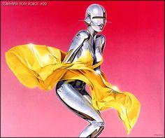 Hajime Sorayama's Sexy Robot series is absurdly beautiful.