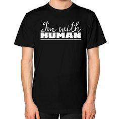 I'm With Human Unisex T-Shirt (on man)