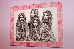 Drawing I made of my favorite tv show Pretty little Liars