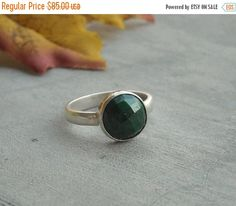 Genuine Emerald ring  Precious ring  Green ring  by Studio1980