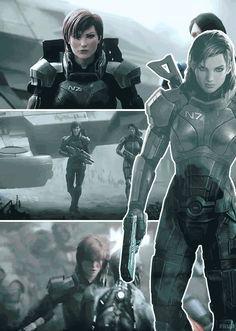 Jane Shepard by elfkisser on DeviantArt Mass Effect Comic, Mass Effect Garrus, Mass Effect 1, Mass Effect Universe, Mass Effect Characters, Fantasy Characters, Fantasy Character Design, Character Art, Commander Shepard