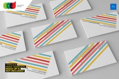 Color Stripes - Business Card by Cooledition on @creativemarket