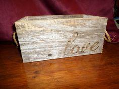 Love Box handmade wood box wooden love box by rustyitems on Etsy