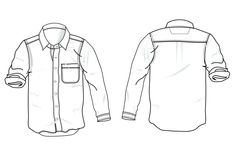 Man shirt technical drawing by corel draw