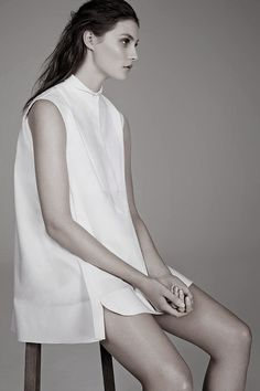isabellebenoitblr:  Balenciaga Shirt, The Simplicity of the White Shirt, The Wall Street Journal, February 2014