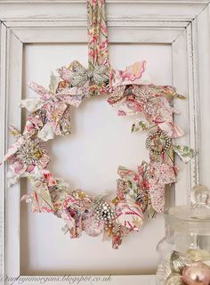 Fabric and Brooch Wreath : The Villa on Mount Pleasant
