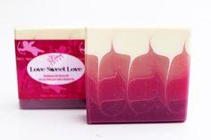 "Handmade Soap ""Love Sweet Love"" (Taiwan Swirl technique, Scent: raspberry)"