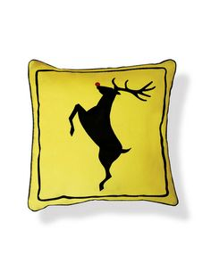 Reindeer Crossing Pillow by Naked Decor at Gilt