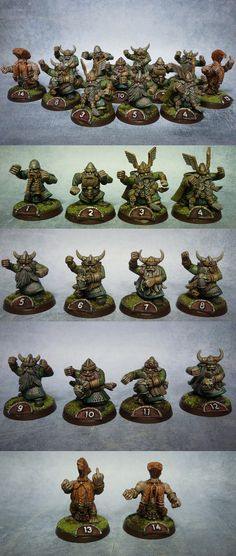 Blood bowl bloodbowl DWARFS team CONVERTED pro painted x14
