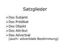 Bildergebnis für die satzglieder Math Equations, Simple Sentences, Deutsch