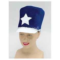 Blue Soldier Majorette Felt Hat Cap Fancy Dress Costume $6.99