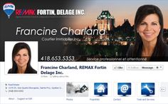 Facebook de Francine Charland #REMAX #Facebook #courtier #immobilier
