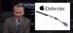 Comedian Bill Maher introduces Apple's stunning new gun     - CNET Technically Incorrect offers a slightly twisted take on the tech thats taken over our lives.  Enlarge Image  Shooting from the hip? Photo by                                            Real Time with Bill Maher/YouTube screenshot by Chris Matyszczyk/CNET                                          Theres a strange perception that only conservatives embrace guns.  But with the election results still warming our craniums perhaps…
