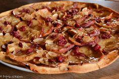Tarte aux pommes, aux cranberries et gelée de pommes maison © Popote et Nature