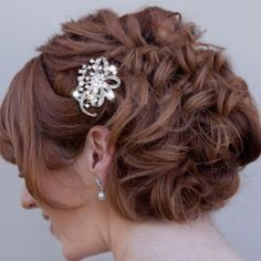 Bijou de cheveux peigne vintage mariage mariée Ancien strass perles nacrées cristal
