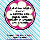 This activity packet is for bilingual classrooms and it includes 44 missing addend problems, each printed on flowers. It also includes 21 flower va...