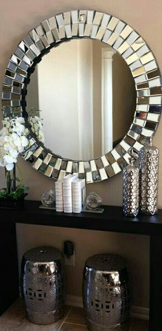 Decorating with Small Mirrors . Decorating with Small Mirrors. Entryway Decor, Diy Room Decor, Home Decor, Entrance Decor, Entryway Tables, Bedroom Decor, Living Room Interior, Living Room Decor, Dining Room