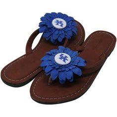 Kentucky Wildcats Womens Daisy Flower Sandals - Brown