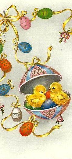 Vintage Easter Easter Art, Hoppy Easter, Easter Crafts, Easter Bunny, Easter Eggs, Vintage Greeting Cards, Vintage Postcards, Fete Pascal, Easter Pictures
