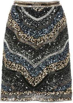 ShopStyle: Chevron sequin skirt