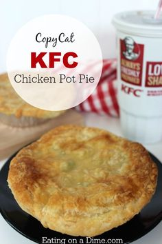 Try this fun and frugal Copycat KFC Chicken pot pie recipe- it freezes great!