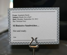 Invite and Delight: Fifty Shades of Fun - SUBmissive sandwich sign