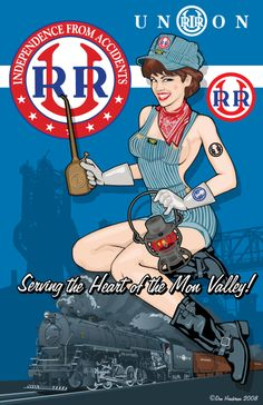 Railroad pin-up for daddy