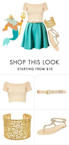 """""""King Triton"""" by indianna28-2002 ❤ liked on Polyvore featuring Disney, Alice + Olivia, Lauren Ralph Lauren, Brooks Brothers and New Look"""