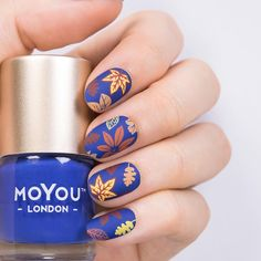 """1,713 Likes, 25 Comments - MoYou-London Official (@moyou_london) on Instagram: """"Mood Indigo polish! 💙🍁💙🍁💙🍁💙 What do you think?⠀ ⠀ 👉Plates - Mother Nature 02 // Mother Nature 07⠀…"""""""