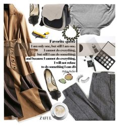 """Zaful 21"" by sinsnottragedies ❤ liked on Polyvore featuring Trish McEvoy, ssongbyssong, My Mum Made It and Jimmy Choo"