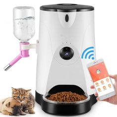 Automatic Pet Feeder, LOME Smart Feeder Pet Food and Water Dispenser with Real-Time HD Night Vision Camera for Dogs & Cats,Wi-Fi Enabled… Food Feeder, Pet Feeder, Win Cash Prizes, Animal Room, Water Dispenser, Enabling, Night Vision, Potpourri, Fountain